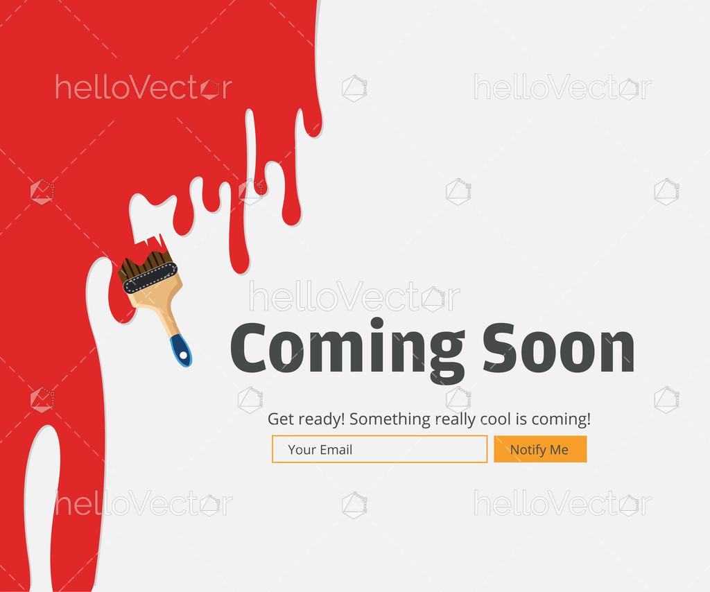 Coming Soon Website Template Download Graphics Vectors