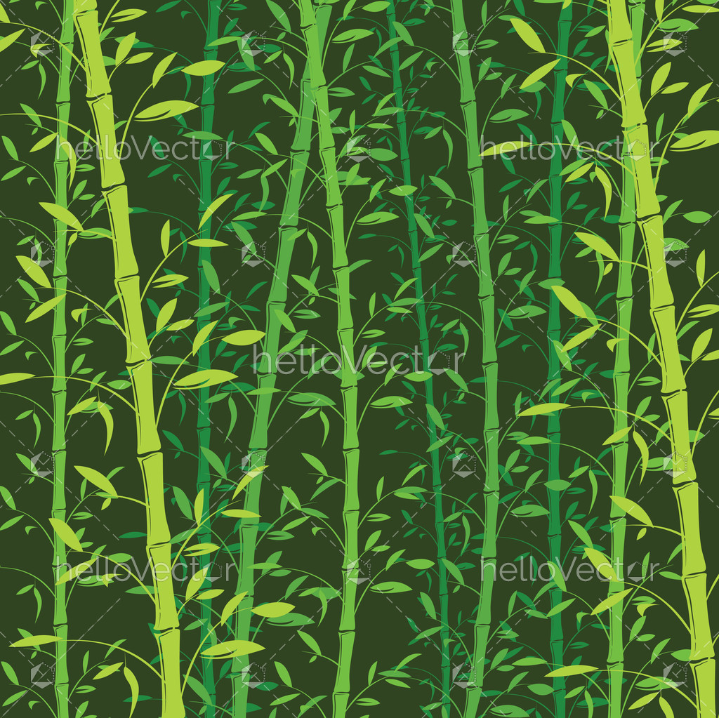 Seamless bamboo pattern background  Green bamboo wallpaper - Vector  Illustration - Hello Vector