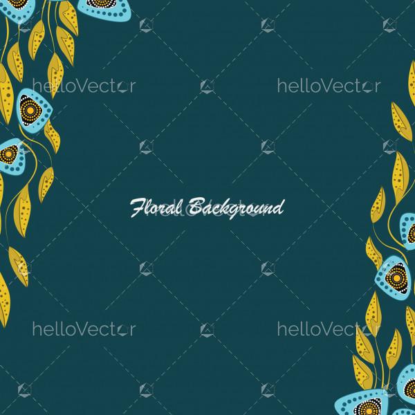 Floral banner background - Vector illustration