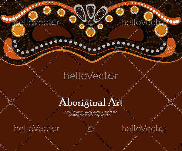 Dot art vector banner with mask
