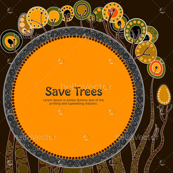 Save tree banner background