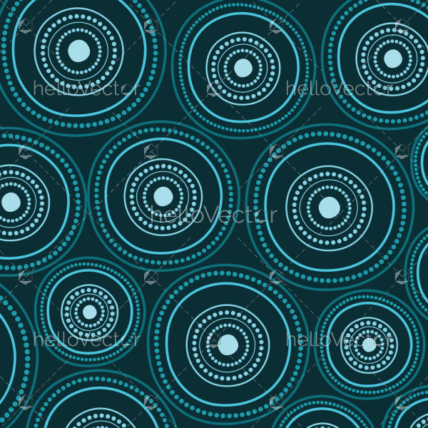 Aboriginal art vector seamless background