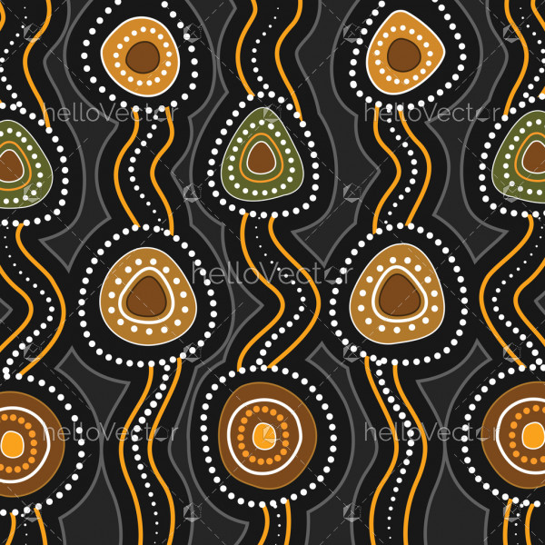 Aboriginal art vector seamless background. Connection concept