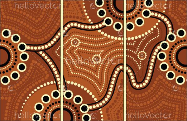 Aboriginal art vector painting, Connection concept.
