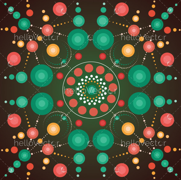 Aboriginal dot art vector background