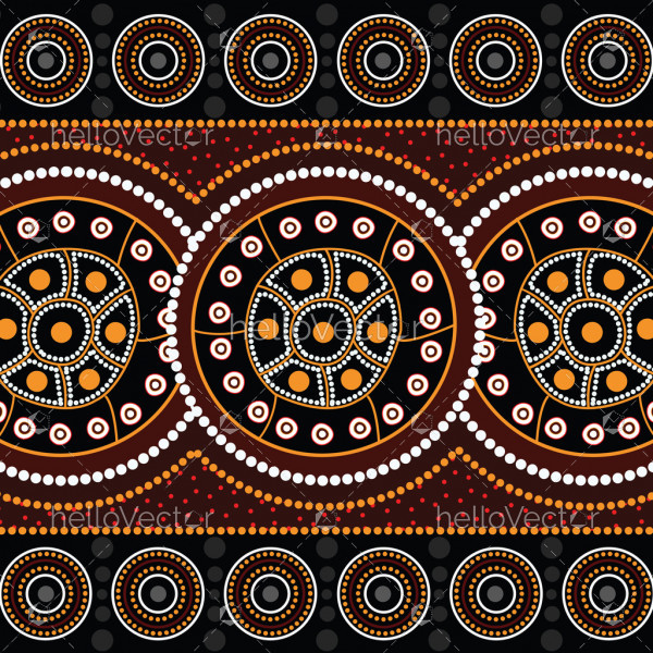 Aboriginal art vector background. Connection concept