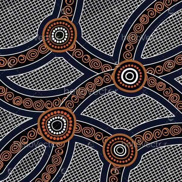 Aboriginal art vector background. Connection concept