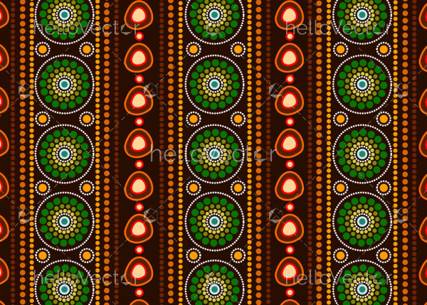 Aboriginal dot art vector seamless background