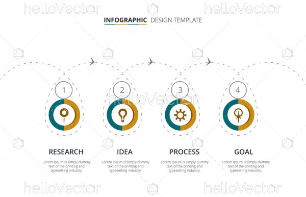 Process infographic template design