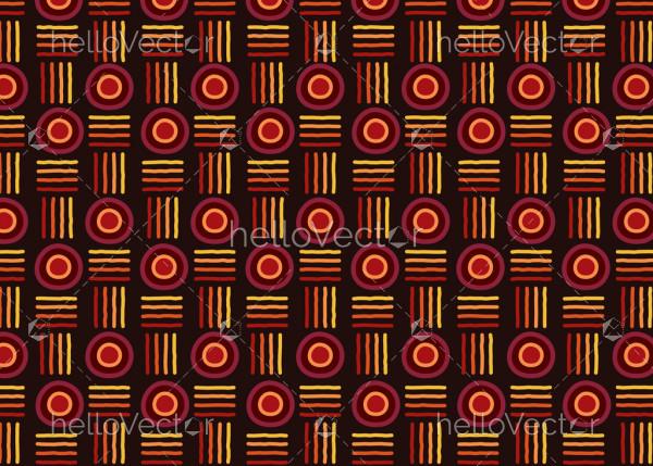 Aboriginal vector seamless pattern background.