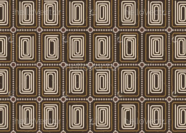 Aboriginal vector seamless background.