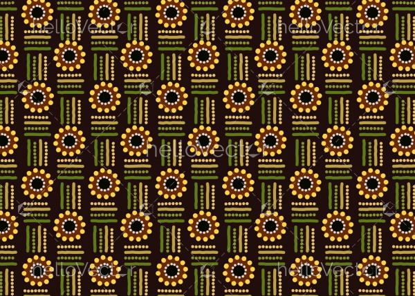 Aboriginal dot art vector seamless background.