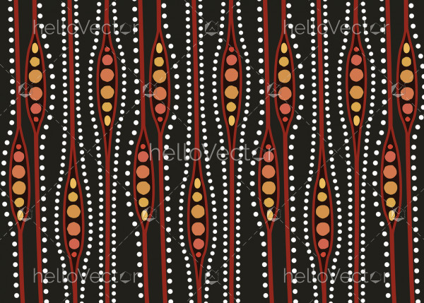 Aboriginal dot art vector seamless background.