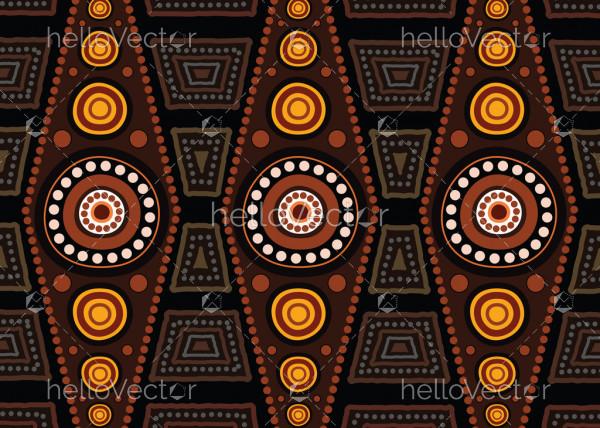 Aboriginal dot art vector pattern background.