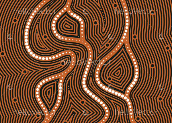 Aboriginal art vector pattern background.