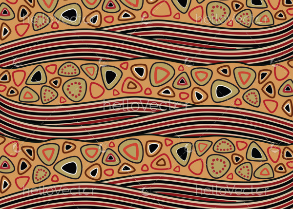 Aboriginal abstract pattern vector seamless background.