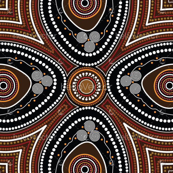 Aboriginal dot art vector background. Connection concept