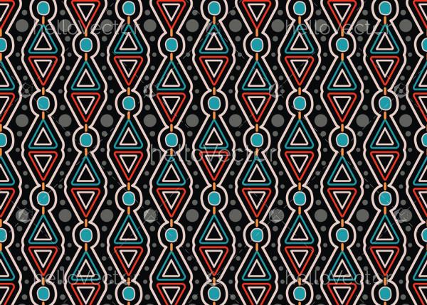 Aboriginal dot art vector seamless background