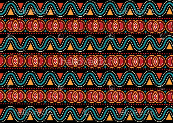 Aboriginal abstract seamless vector background