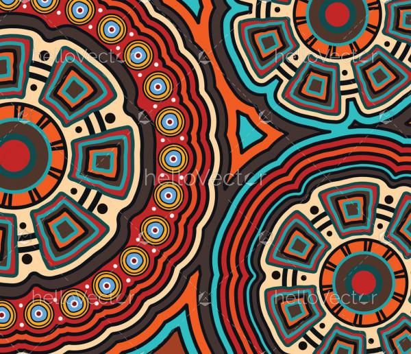 Aboriginal dot art vector painting. Connection concept