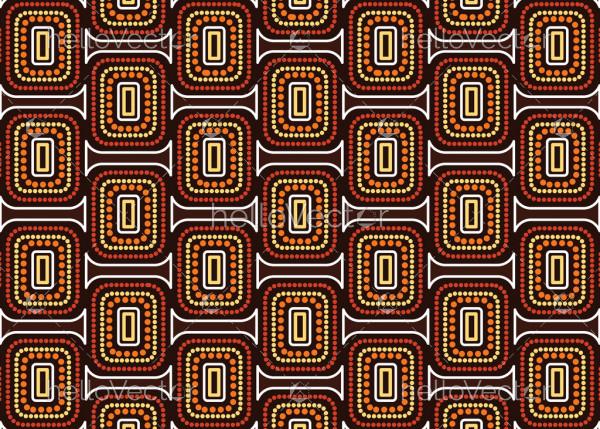 Aboriginal dot art vector seamless pattern background.
