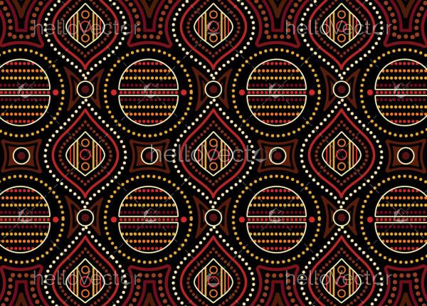 Aboriginal dot art vector seamless pattern background