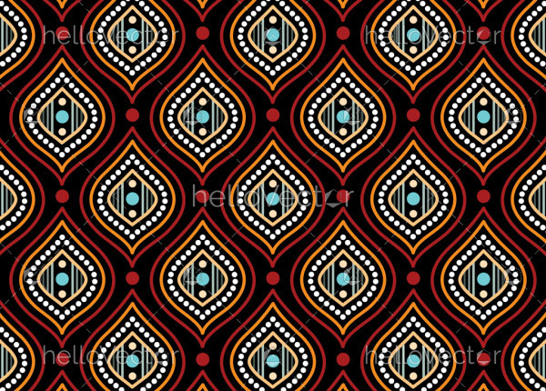 Aboriginal dot art vector seamless pattern background
