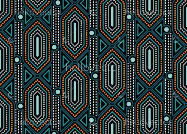 Aboriginal art dot vector seamless pattern background.