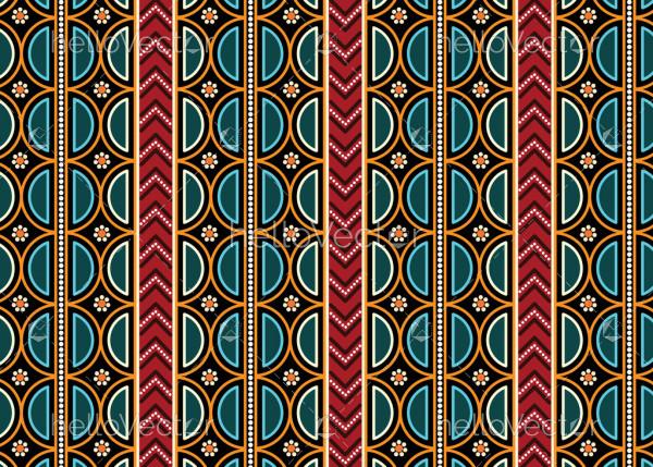 Aboriginal art vector pattern background.