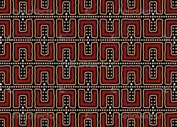 Aboriginal art vector seamless pattern background