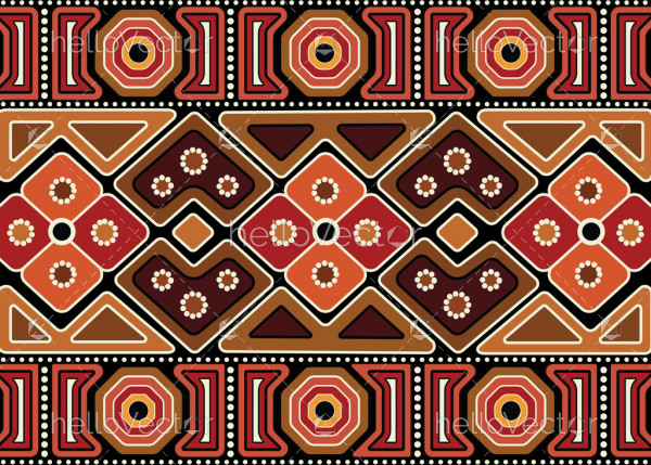 Aboriginal abstract vector seamless pattern background.