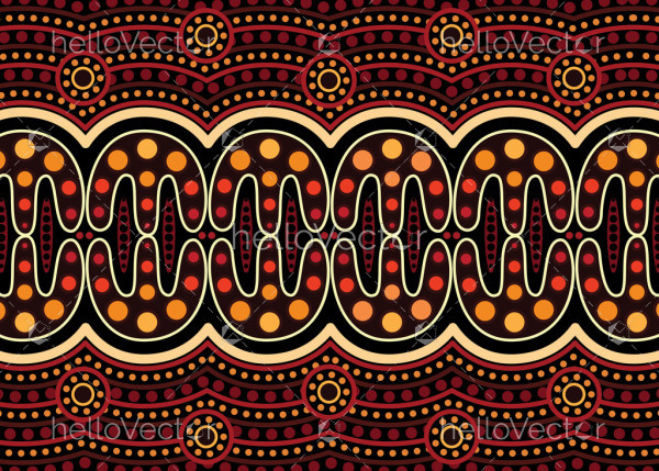 Aboriginal dot art vector pattern background.