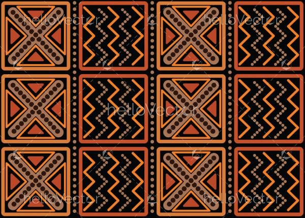 Aboriginal art vector seamless pattern background.