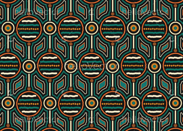 Aboriginal vector seamless pattern background.