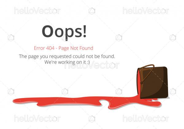 404 error page layout vector design