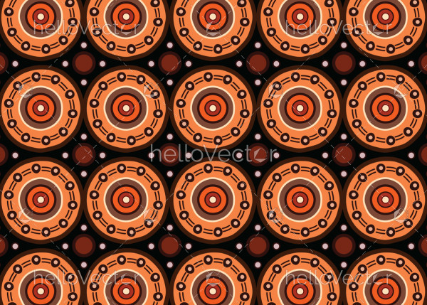 Aboriginal art vector seamless pattern background.