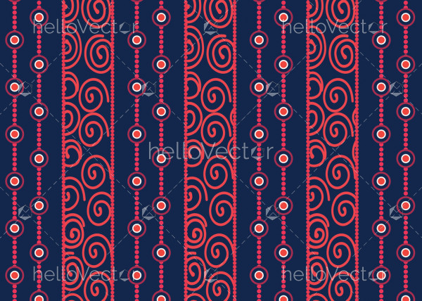 Aboriginal dot art vector seamless pattern background.