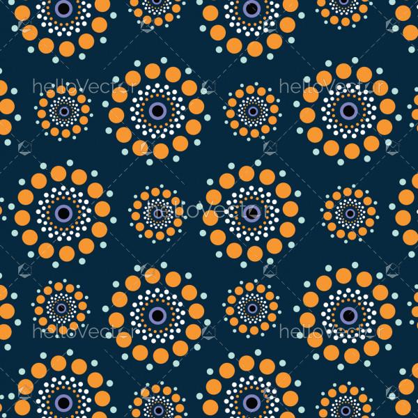 Dot art vector seamless pattern background.