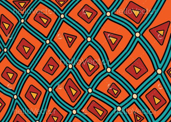 Illustration based on aboriginal style of background