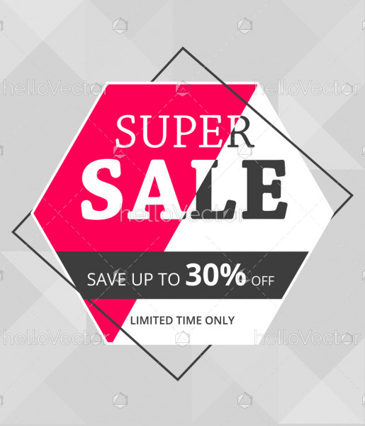 Sale and discount flyers template design.