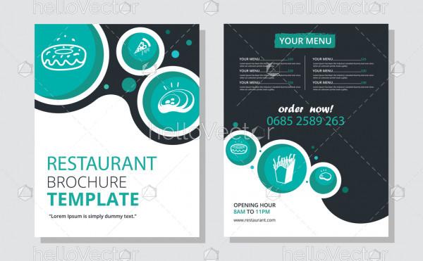 Restaurant brochure design vector template.
