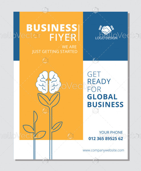 Business flyer template vector design with graphics and text.