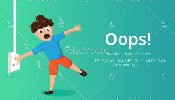 404 error page layout vector design