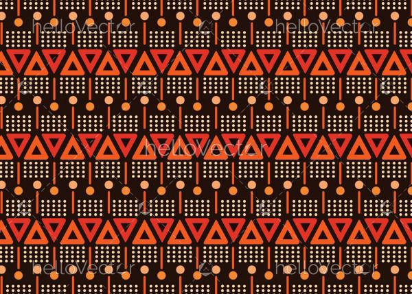 Illustration based on aboriginal style of seamless pattern background.