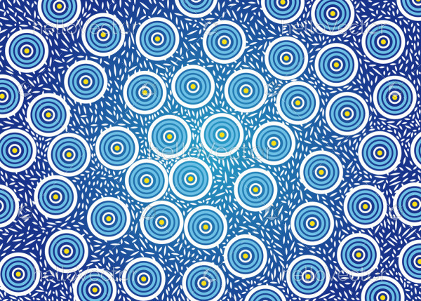 Illustration based on aboriginal style of seamless pattern background.