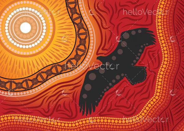 Aboriginal art vector background