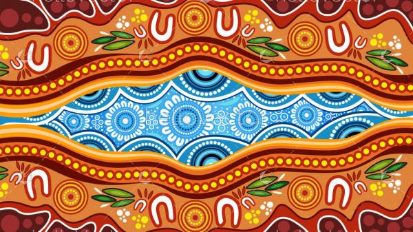 Aboriginal dot art vector background