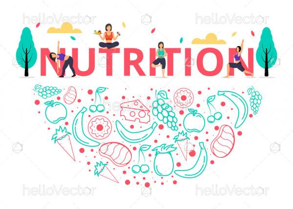 Nutrition infographic design - Vector illustration
