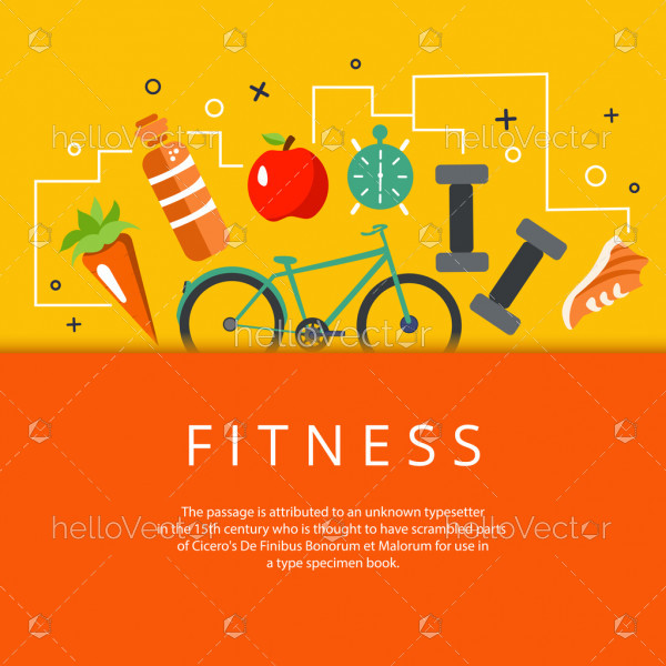 Fitness, diet and healthy lifestyle banner
