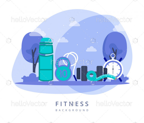 Healthy lifestyle graphic design - Vector illustration